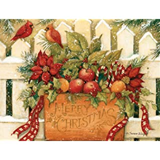 "LANG 1004675 -""Merry Christmas Welcome"", Boxed Christmas Cards, Artwork by Susan Winget"" - 18 Cards, 19 envelopes - 5.375"" x 6.875"""