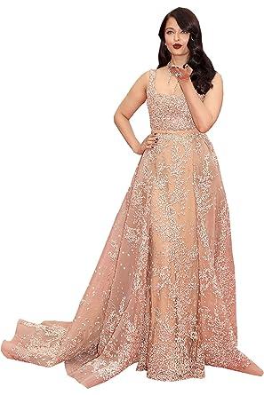 Amazon.com  Newdeve Stylish Beading Champagne Maxi Formal Dresses ... 910132868