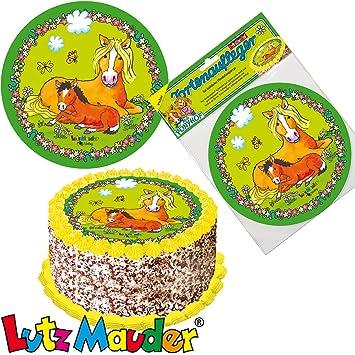 Tortenaufleger Pony Als Deko Fur Torten Und Kuchen Von Lutz