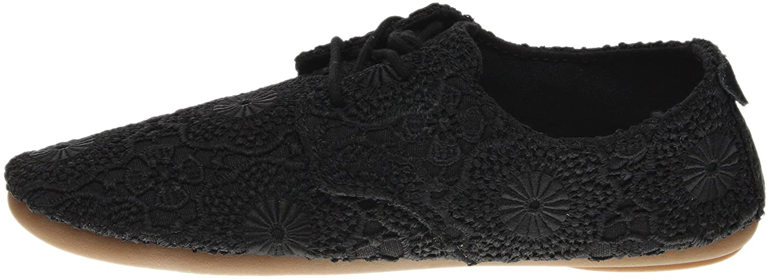 Sanuk Casual Shoes Womens Bianca Crochet Leather Rubber 1015892 B01IAOP9NA 10 B(M) US|Black/Black
