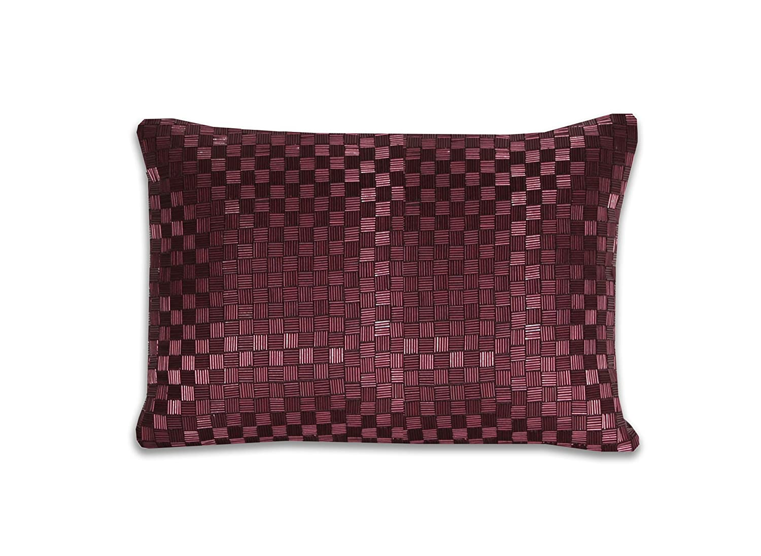 Thro by Marlo Lorenz 4845 Sorel Short Pipe Pillow Wine Tasting 10 by 14-Inch