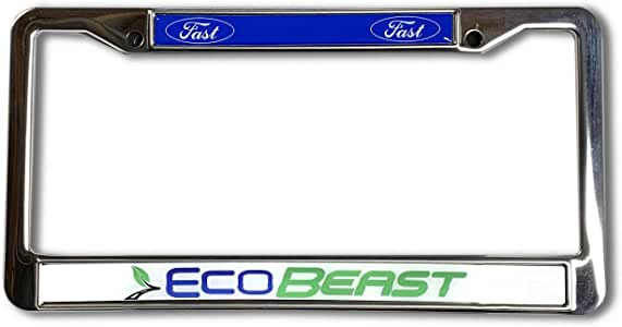 EcoBeast Black Plastic Car License Plate Frame Holder eco Beast