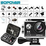 GooBang Doo 2017 Model 4K Action Camera, Bopower B1W 4K WIFI Waterproof Sports Action Camera with 170 Degree Ultra Wide Angel Lens, 2 Pcs Long Lasting Batteries, 2.4G Wireless RF Controller