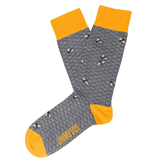Jimmy Lion Bees, Calcetines para Hombre, Gris (Grey), One Size (