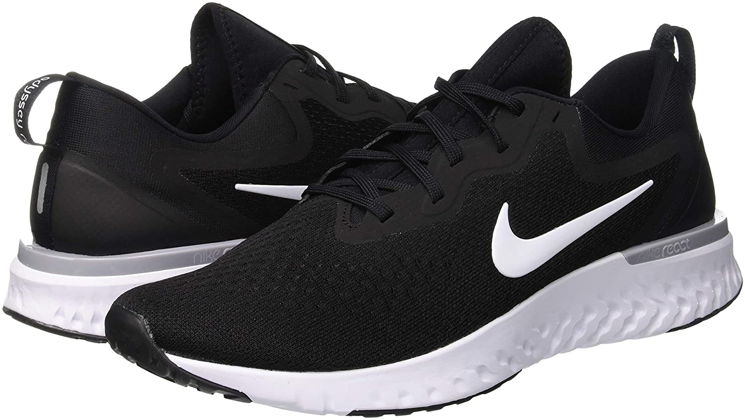 Nike Men s Odyssey React Black White-Wolf Grey Running Shoes  Buy Online at  Low Prices in India - Amazon.in 1b695797eb