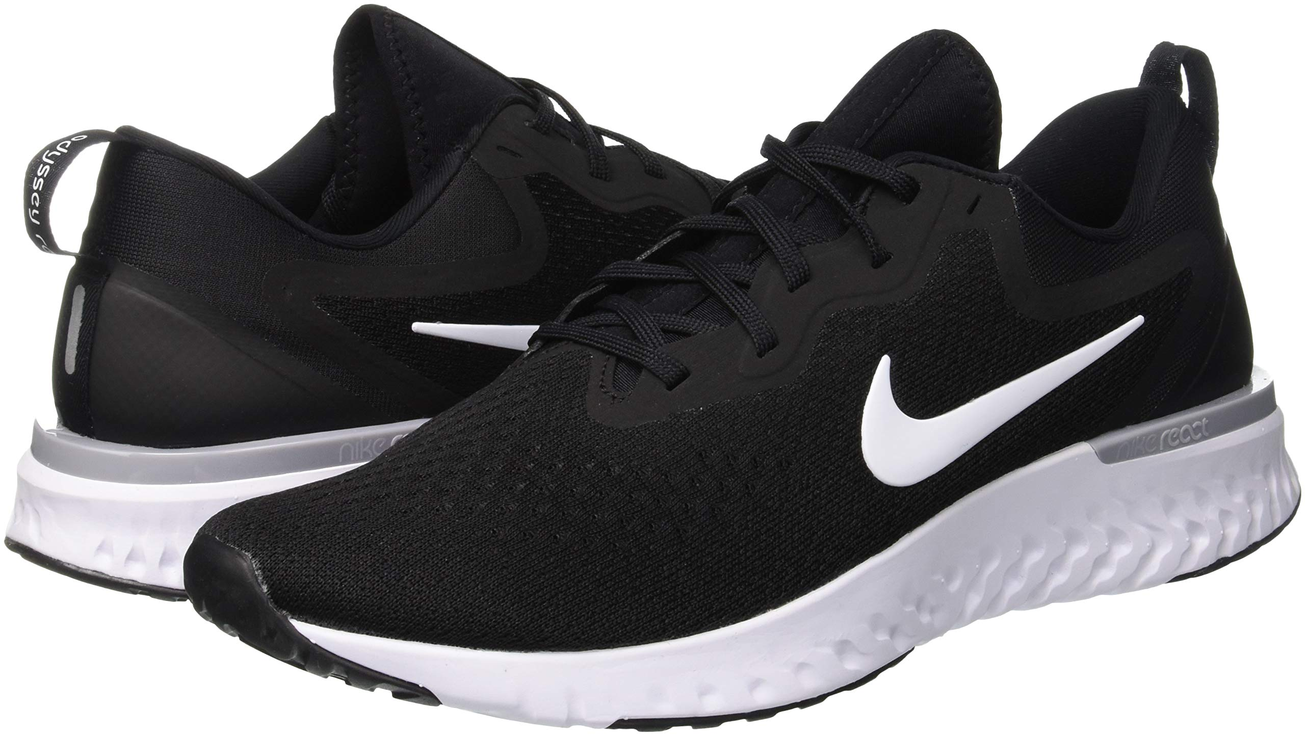 Nike Odyssey React Mens Running Trainers AO9819 Sneakers Shoes (UK 6 US 7 EU 40, Black White Wolf Grey 001) by Nike (Image #5)