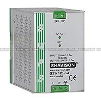 Shavison SMPS G31-120-24, CE Marked, I/P : 230VAC, O/P: 24VDC, 5A