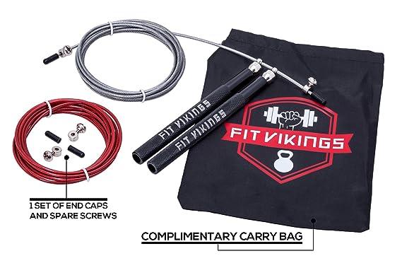 ... boxeo, MMA, Fitness Training, Double Unders WOD, saltar ejercicio, entrenamiento cardiovascular - PREMIUM CALIDAD por Fit Vikings: Amazon.es: Deportes ...