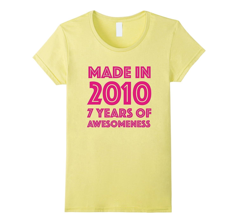 7th Birthday Shirt Gift Age 7 Year Old Girls Tshirt Tee