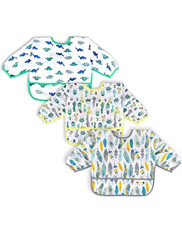 Months MOTHERCARE 3 Pack Easy Wipe Clean Weaning Bibs X-mas Gift Animals Age 6
