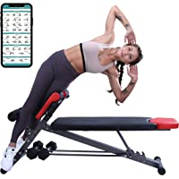 Finer Form UPGRADED Multi-Functional Bench for Full All-in-One Body Workout – Hyper Back Extension, Roman Chair…