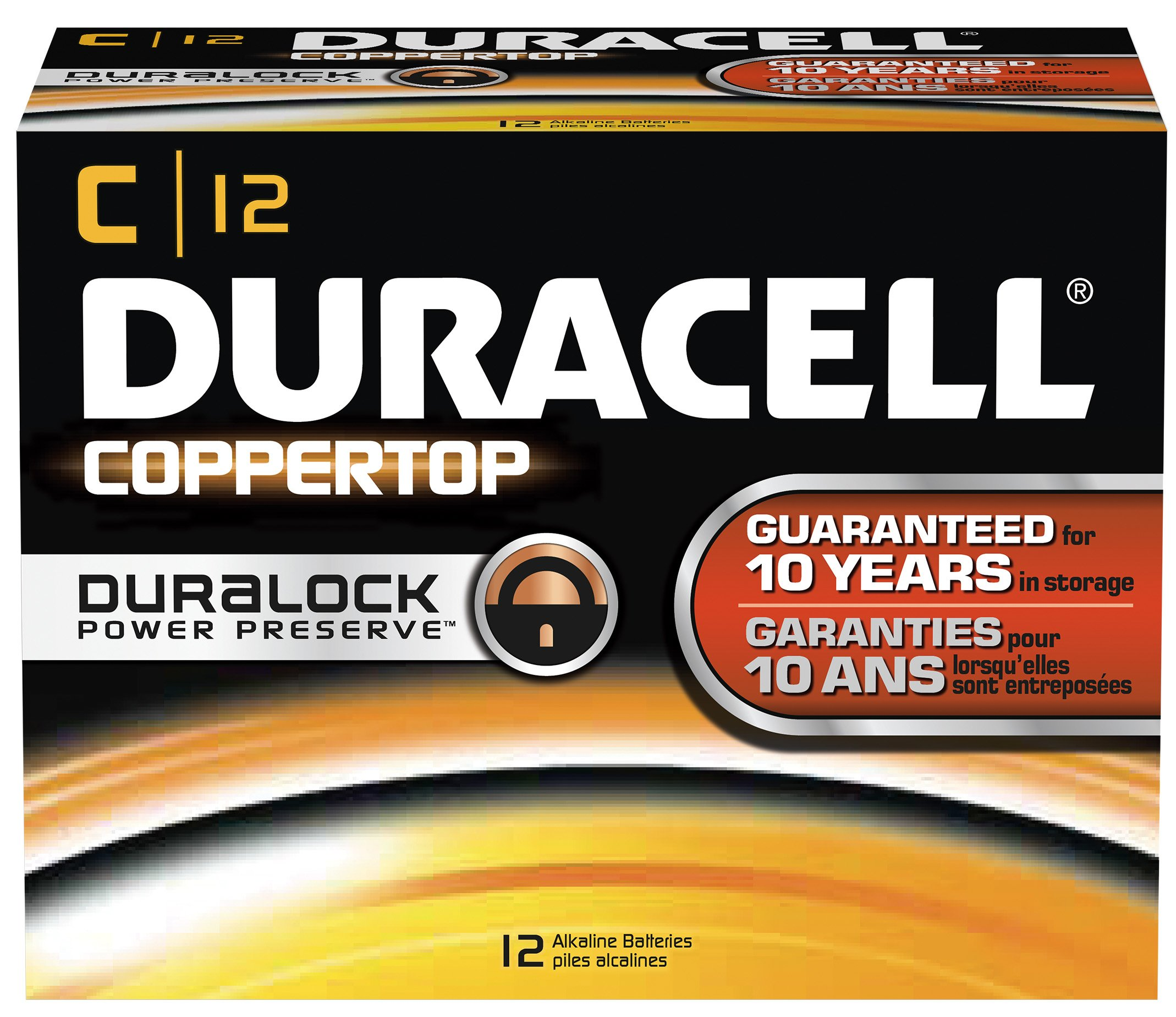 Duracell MN1400 CopperTop Alkaline-Manganese Dioxide Battery, C Size, 1.5V (Case of 72)