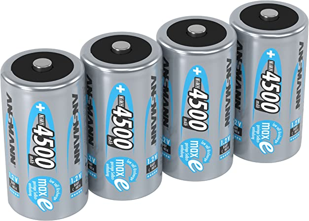 Ansmann Akku C 4500 Mah Nimh 1 2 V Baby C Batterien Elektronik