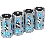 ANSMANN LSD Baby C Akkubatterien 1 2V/Typ 4500mAh/NiMH Hochleistungsakkus mit geringer Selbstentladung & hoher Langlebigkeit - ideal für Fernbedienung Spielzeug Werkzeug uvm. 4 Stück