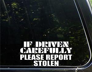 "Sweet Tea Decals If Driven Carefully Please Report Stolen - 8"" x 3 3/4"" - Vinyl Die Cut Decal/Bumper Sticker for Windows, Trucks, Cars, Laptops, Etc."