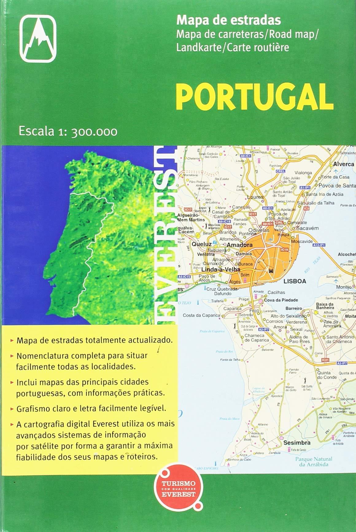 Mapa De Estradas De Portugal Escala 1 300 000 Varios Autores