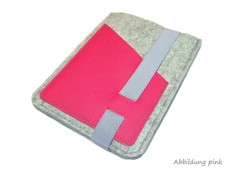 eBook Reader eReader Tablet Hülle Wollfilz, Filz, Leder Farbwahl, Maßanfertigung, z. B. für Tolino Epos Maßanfertigung z. B. für Tolino Epos