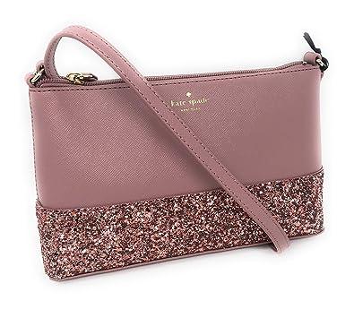 9d8830cb40 Amazon.com  Kate Spade Ramey Greta Court Glitter Saffiano Leather Crossbody  Bag Dusty Peony  Shoes