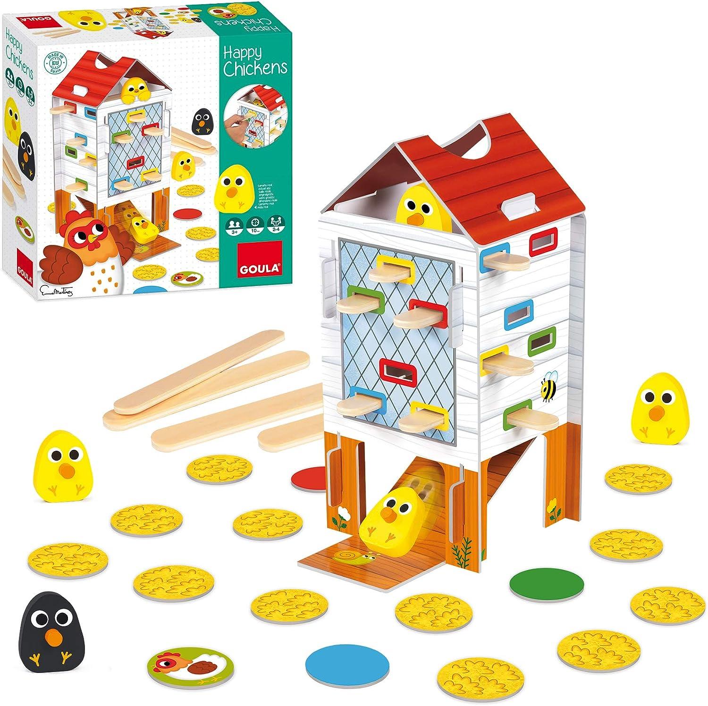 Goula - Happy chicken - Juego de mesa preescolar a partir de 3 años:  Amazon.es: Juguetes y juegos