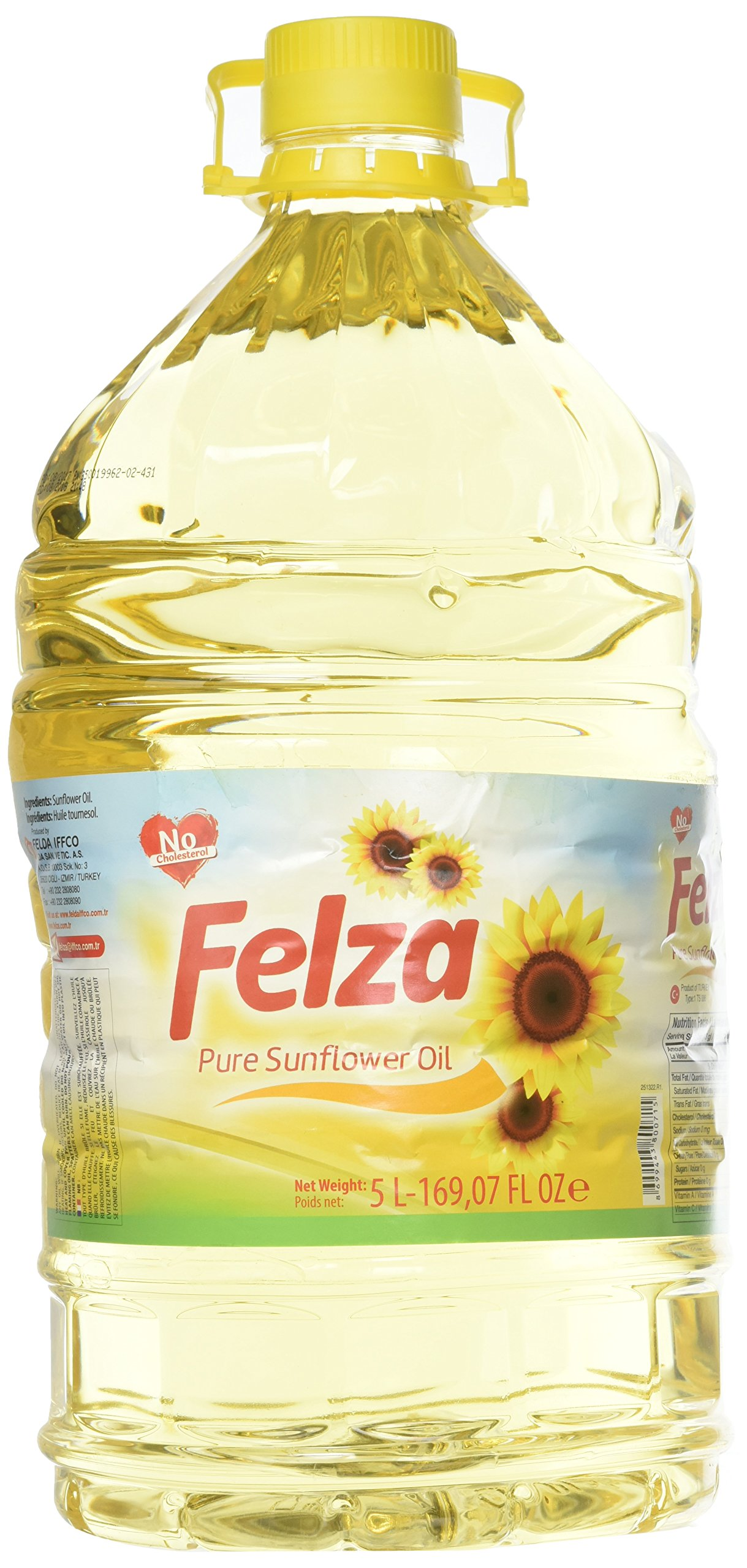 Felza, Pure Sunflower Oil, 5 Liter(ltr)