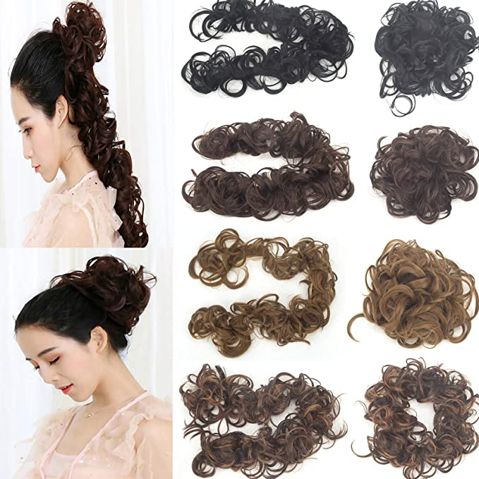 Wondrous 32 Wavy Hair Curls Tail Ponytail Hair Pieces Bun Extension Messy Schematic Wiring Diagrams Phreekkolirunnerswayorg