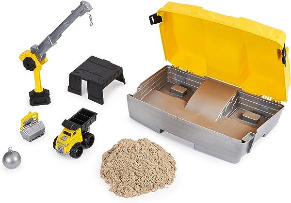 Kinetic Sand Construction Site Folding Sandbox