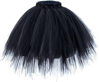 WELROG Falda Corta de tutú de Ballet para Mujer - Falda de Burbuja ...
