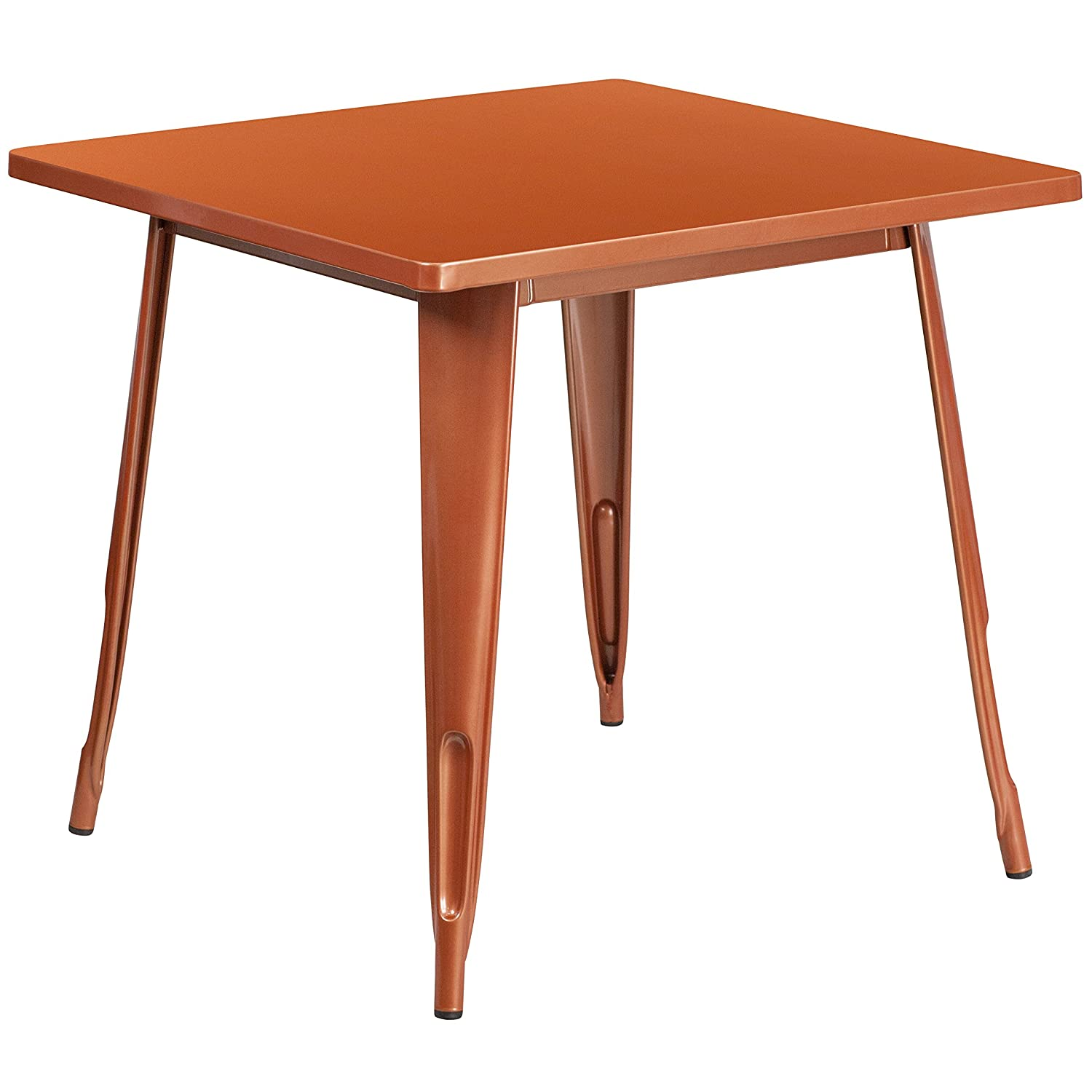 Flash Furniture 31.5'' Square Copper Metal Indoor-Outdoor Table