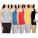 Tank Tops (Pack Of Five Colours Grey Blue Yellow Black Red)