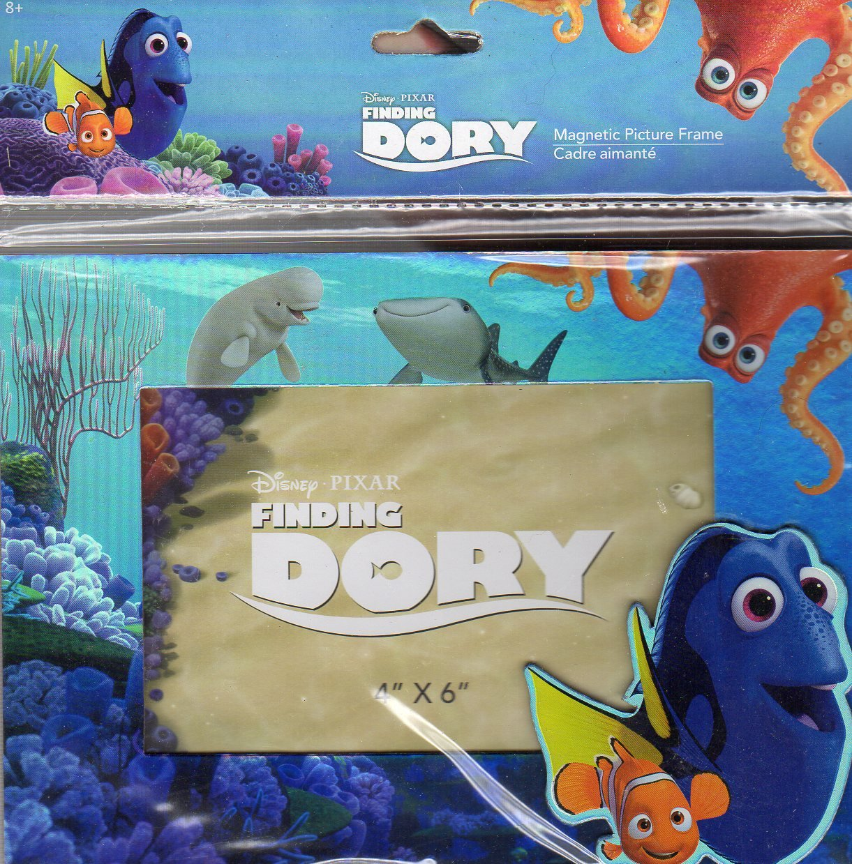 Disney Finding Dory - Magnetic Picture Frame (4x6 In) - Metallic Colors - Newborn, Kid, Child, Children, Infant, Baby Greenbrier