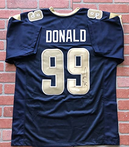 Nice Aaron Donald autographed signed jersey NFL Los Angeles Rams JSA w  for cheap
