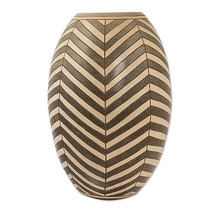 NOVICA 256923 Earth Arrows Ceramic vase