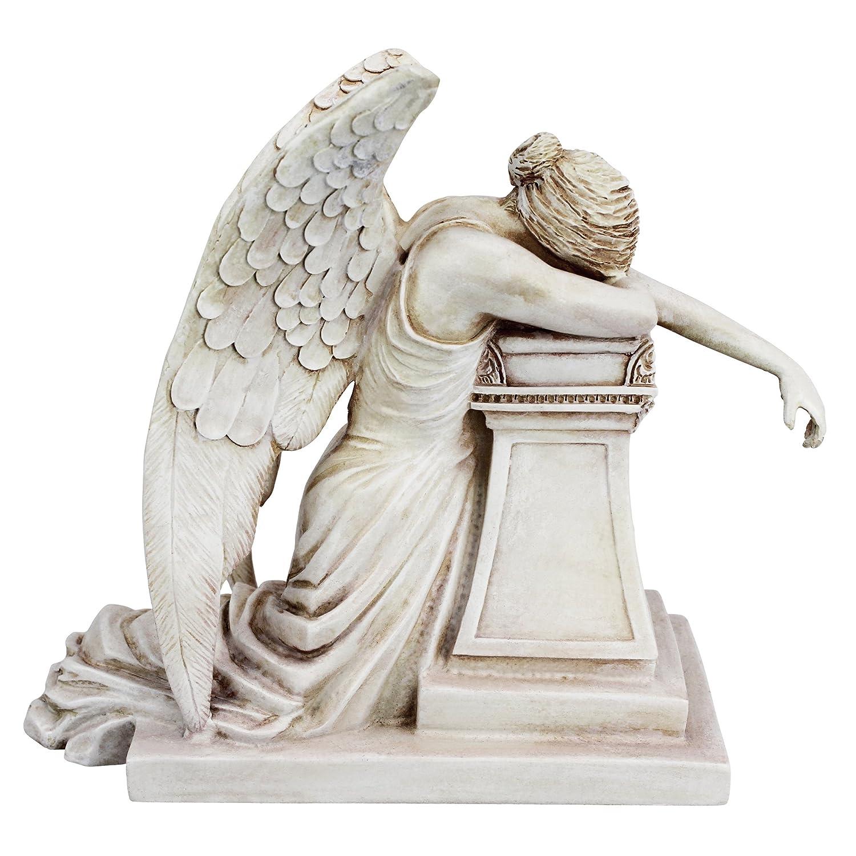 19 cm Desktop Design Toscano Angel of Grief Monument Religious Figurine Statue Polyresin Antique Stone