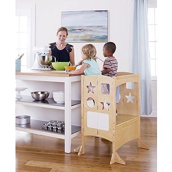 Amazon.com: Guidecraft Kids Double Kitchen Helper - Natural Extra ...