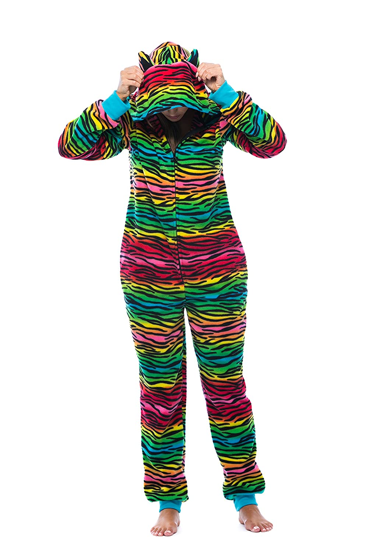 Just Love Adult Onesie with Animal Prints/Pajamas