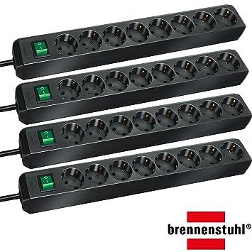 Steckerleiste mit Schalter und Brennenstuhl Eco-Line Steckdosenleiste 8-fach