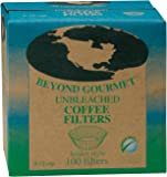 Beyond Gourmet Basket Coffee Filters, 8 to 12-Cup Capacity, Box of 100