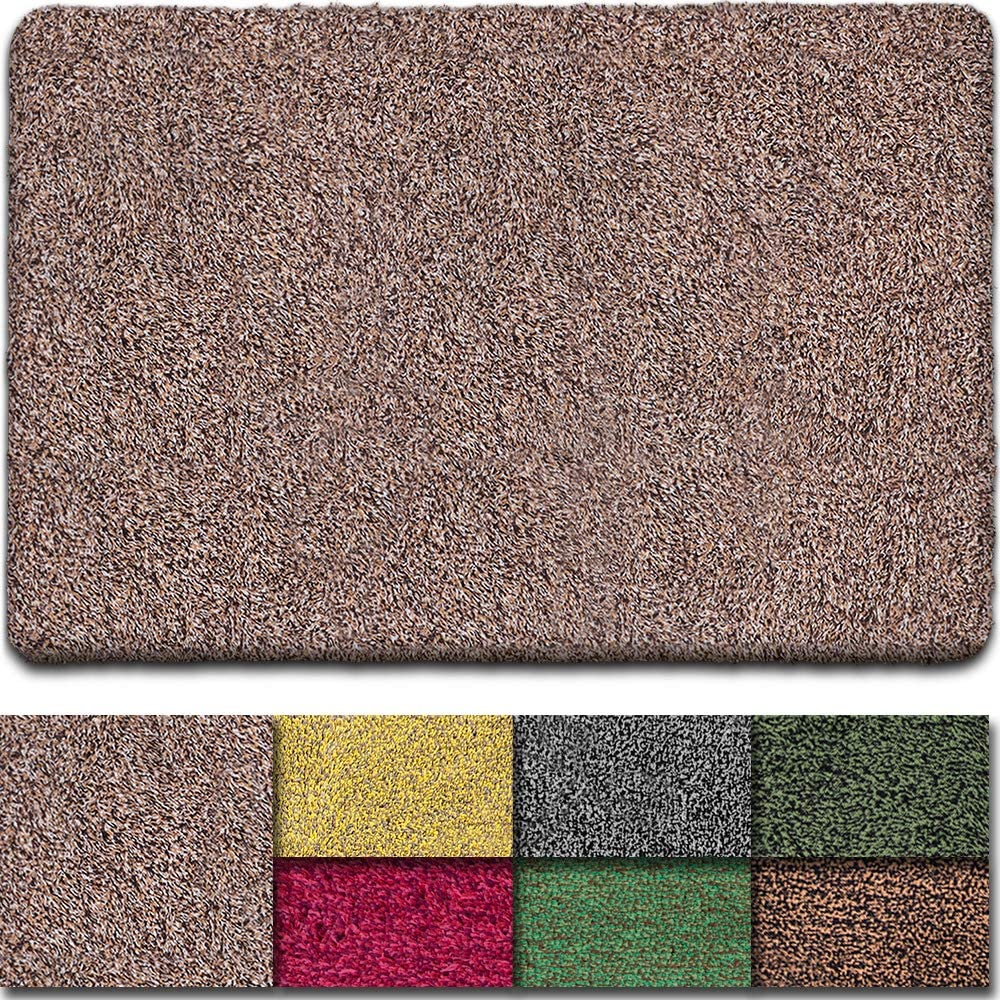 Beau Jardin Indoor Doormat Super Absorbent Mud Front Door Mat 36 X24 Latex Backing Non Slip For Front Inside Dirt Trapper Mats Cotton Entrance Rug Shoes Scraper Machine Washable Rug Carpet Home