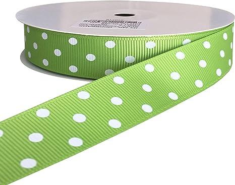"5 Yards Sweet Pink Green White Striped Grosgrain Ribbon 7//8/""W"