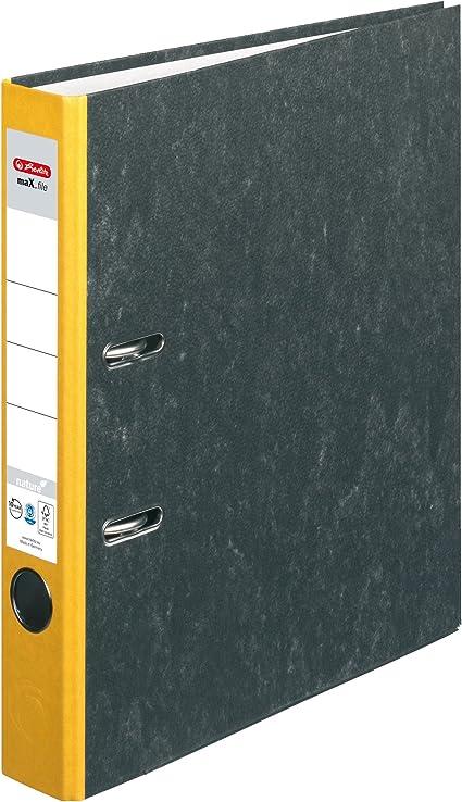 Kantenschutz A4 5 cm Herlitz Ordner maX.file nature Pappe blau Wolkenmarmorbezug standfest