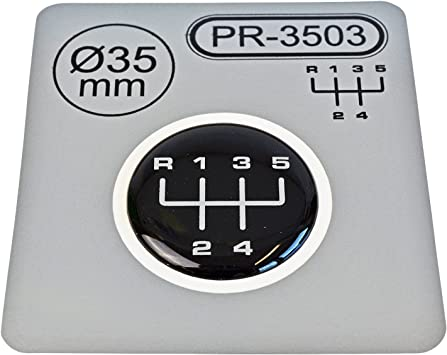1x Schalthebel Aufkleber Durchmesser 35 Mm 5 Gang Schaltknauf Emblem Silikon Sticker Schema 3 Auto
