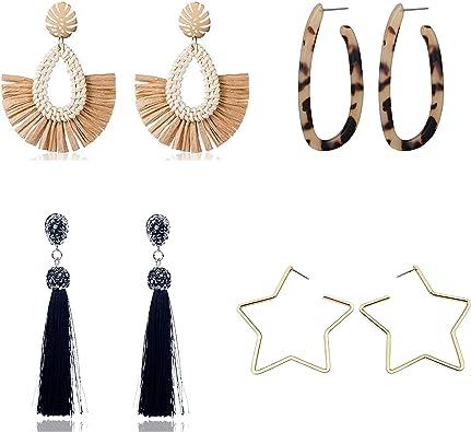 Fashion Tassel Geometric Earrings Resin Earrings Long Dangle Earrings For Women Girls Jewelry