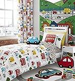 Catherine Lansfield - Parure de lit pour enfant - fille/garçon - voitures - lit 1 personne (UK)