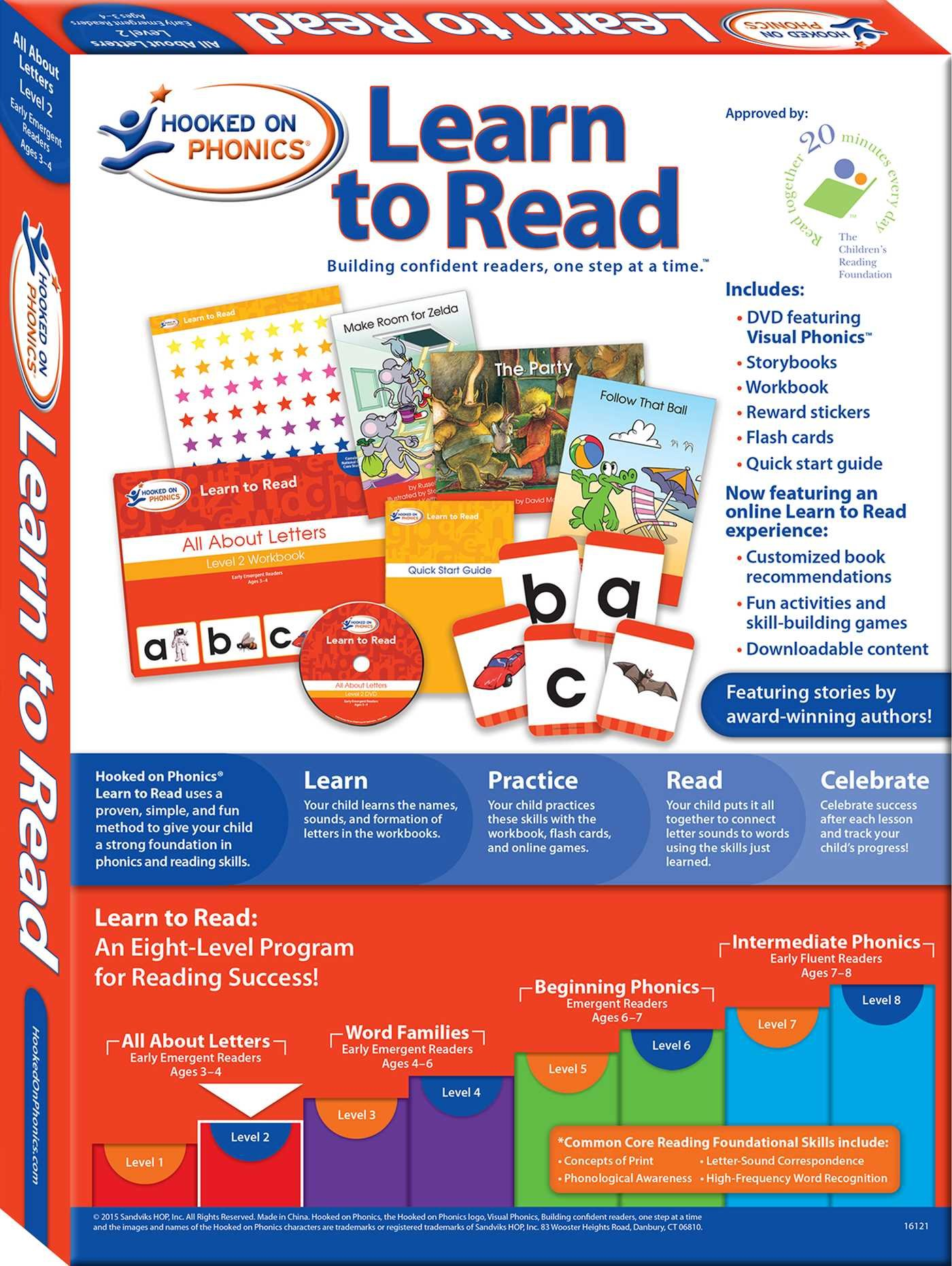 Hooked on phonics learn to read level 2 all about letters hooked on phonics learn to read level 2 all about letters early emergent readers pre k ages 3 4 hooked on phonics 0713974010639 amazon aljukfo Images