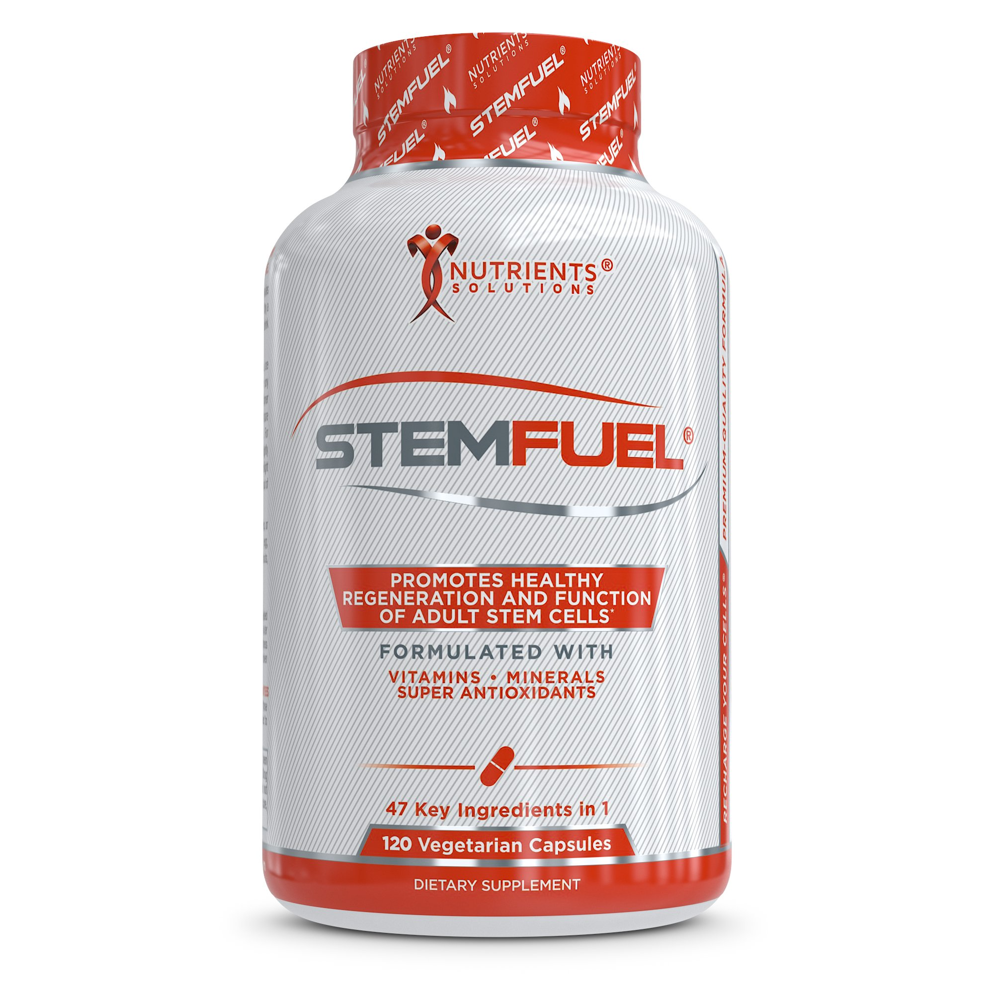 STEMFUEL - Advanced Cell, Brain, Anti-Aging and Deep Immune System Support Supplement with Daily Multivitamins for Men and Women - Promotes Healthy Energy, Focus, and Cognitive Function - 120 Veg Caps
