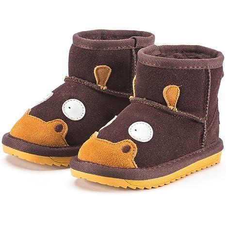 a8790a236 Snugs Boots Niños Botas de Piel de Cordero y Wild Botas Zapatos para niños  y niñas