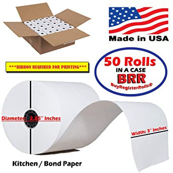 Amazon.com: 1-Ply Cocina Impresora Papel Bond 3