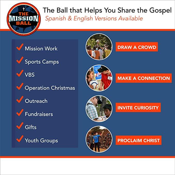Amazon.com : The Mission Ball (Spanish Soccer Ball - Biblical Gospel Sharing Tool Using The Worlds Most Popular Sport to Explain Christ - Perfect for ...