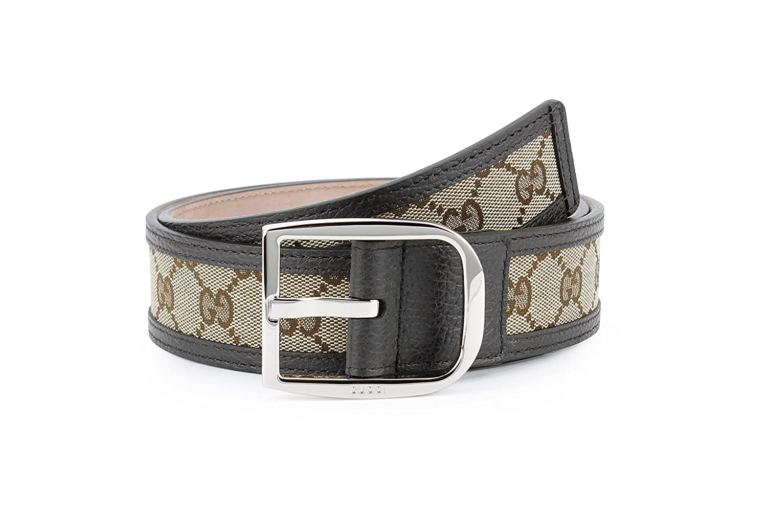 a00506a7bd1 Amazon.com  Gucci Original GG Canvas with Leather Belt