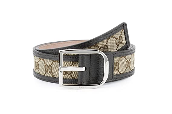 2aa1e61ade0 Amazon.com  Gucci Original GG Canvas with Leather Belt